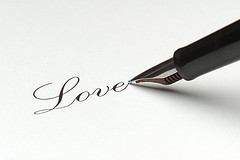 love with pen
